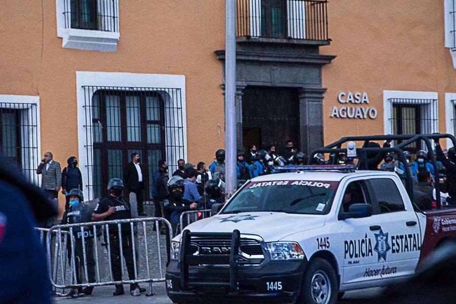 Teteles, Casa Aguayo, desalojo